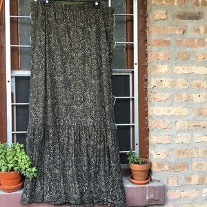 MICHAEL Michael Kors tiered maxi skirt olive 2X